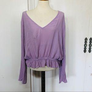 Express Women's Boho Tunic Blouse